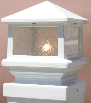 Deck Lights-Pyramid Glass White (12 Volt) FLA6050