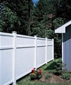 Imperial vinyl fence 5 ft x 8 ft with midrail  Smooth Finish