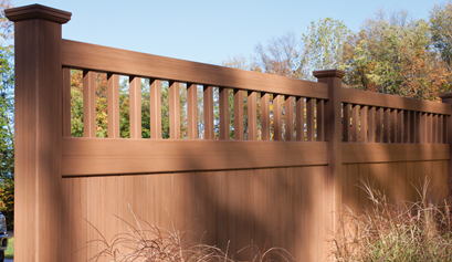 Chesterfield Fence w/CertaGrain & Victorian Accent