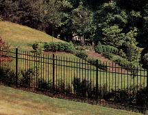 "Aluminum FENCE SECTION 36"" x 6 Style 101"