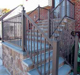 "American Twisted & Sq. Tioga Aluminum Railing 42"" x 6 STAIR"