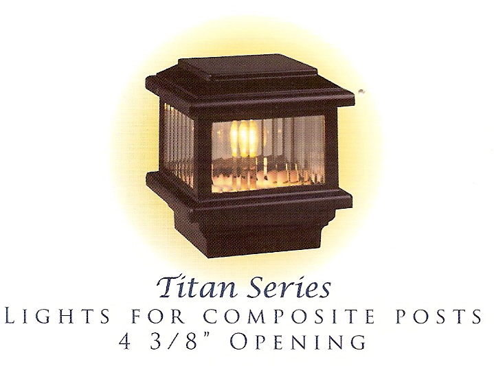 "Titan Decklight for 4 3/8"" Opening Black"
