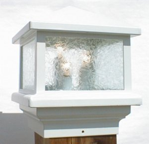 Pyramid Glass White (12 Volt) Deck light 5 1/2""
