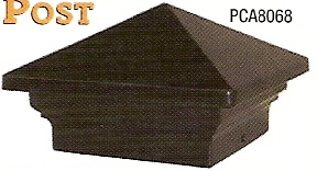 Pyramid Post Cap, Black #PCA8068 5 1/2""