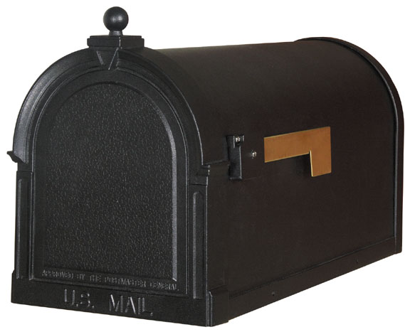 Berkshire Mailbox-cast aluminum-TEXTURED panel