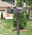 Main Street Square Double Mailbox Post