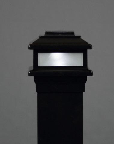 "Solar Deck Light MaciMae Solar Light 5"" Post"