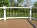 "York Step Railing 36""H Round Aluminum Balusters"