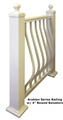 "3 1/4"" Heavy Wall Post 38""L w/plate, cap and trim"