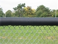 Black Corrugated Top Rail Cover 100 ft