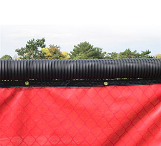 Black Corrugated Top Rail Cover 250 ft