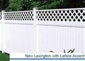 "New Lexington Vinyl with Lattice Accent 72""H x 8 ft W"