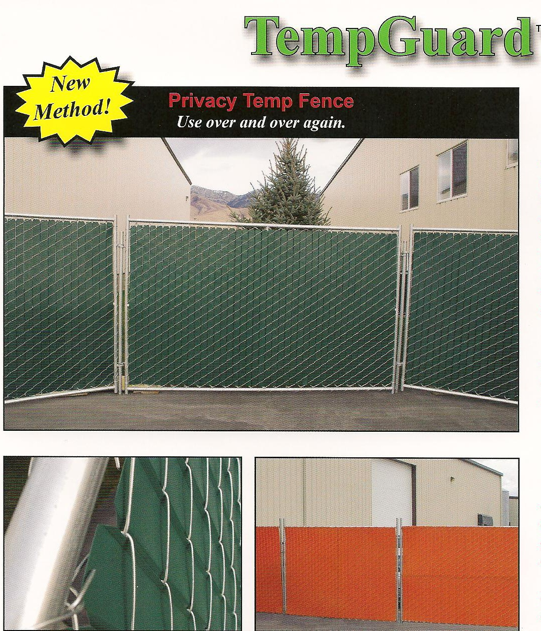 TempGuard Temporary fence with privacy