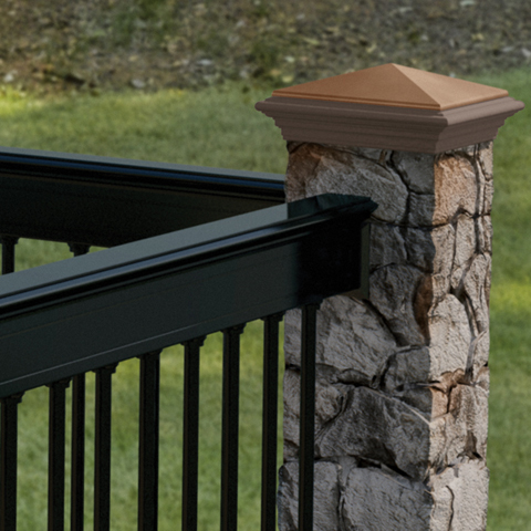 "53"" Gray Fieldstone Post Cover"