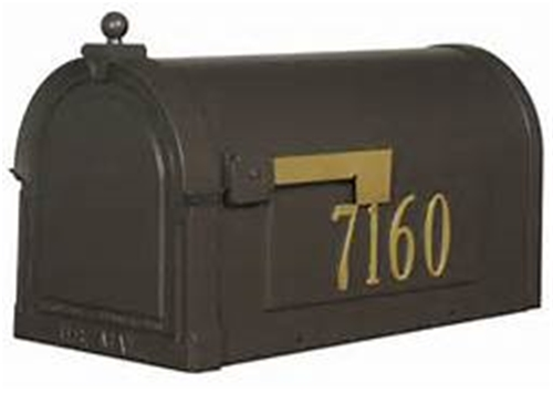 "Berkshire Curbside Mailbox Post 3"" Side numbers and address plaque"