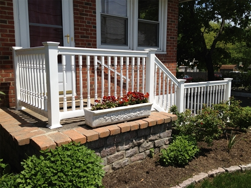 "Madison Step Railing, 30"" H x 6-T-Top-Stair"